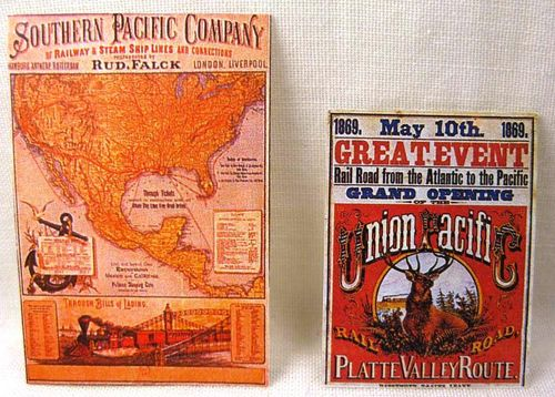 Poster Union & Southern Pacific