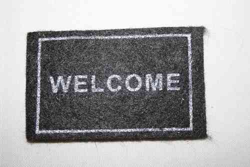 "Fussmatte ""Welcome"""