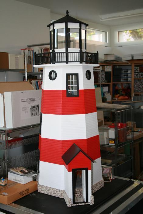 Leuchtturm 1 12 lilliput land - Leuchtturm selber bauen ...
